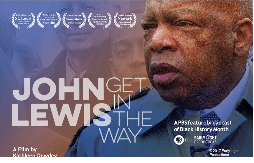 Movie poster showing an images of John Lewis