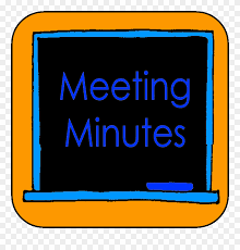 clipart chalkboard saying meeting minutes